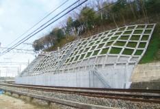 京成電鉄本線臼井〜佐倉間上り線側法面補強