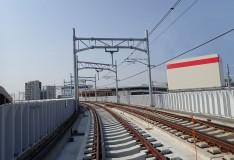 新京成線(鎌ヶ谷市)連続立体交差事業に伴う計画線軌道工事その6工事